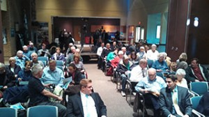 About 60 people attend a symposium on Proposal 1 Tuesday in Sterling Heights.
