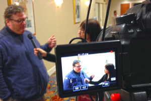 Dan Gilmartin is interviewed during the NLC Congressional City Conference in Washington D.C. this week.