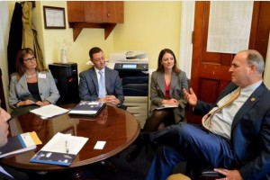 The League's John LaMacchia is in Washington D.C. this week for the National League of Cities Infrastructure Week celebration. As part of his work, LaMacchia (center left) met with U.S. Rep. Dan Kildee (right).