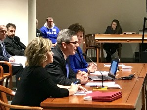 The League's Anthony Minghine testifies before a state House committee.